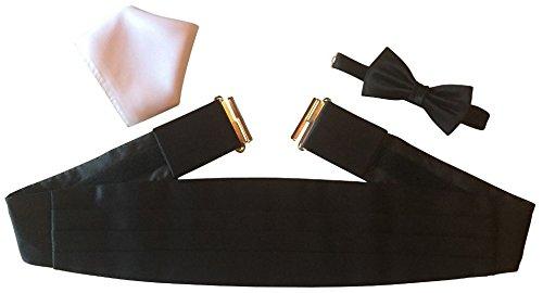 Gentleline Kummerbundle Kit de musculation en microfibres/satin Noir/blanc