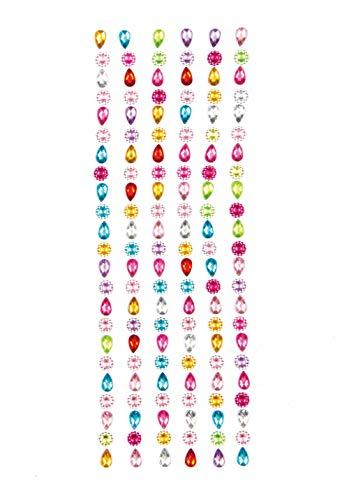 Baker Ross Selbstklebende Schmucksteine aus Acryl in Blumen- und Tropfenform zum Gestalten und Verzieren von Collagen, Karten und Anderen Bastelarbeiten (138 Stück)