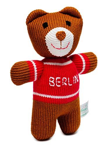 Freia 11F207 Kuscheltier Berliner Bär Ted handgemacht in Europa, 18 cm