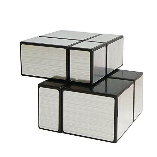 EasyGame Puzzle Cube Magique, 2X2 Miroir Vitesse Puzzle Puzzle Cube 1.9X1.9X1.9cm Couleur Argent
