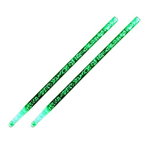 Globalqi Acryl Drumstick, helle LED leuchten Drumsticks blau/grün/gelb