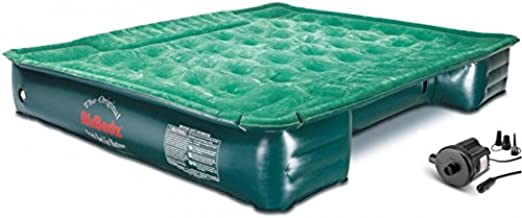 "Pittman Outdoors AirBedz Lite PPI PV202C Full Size, Short 6'-6.5' Truck Bed Air Mattress with DC Corded Pump (76""x63""x12"" Inflated),Green,Full Size Beds"