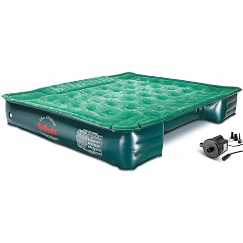 Pittman Outdoors PPI PV202C Green Full Size, Short 6'-6.5' Truck Bed Air Mattress with DC Corded Pump (76'x63'x12' Inflated)
