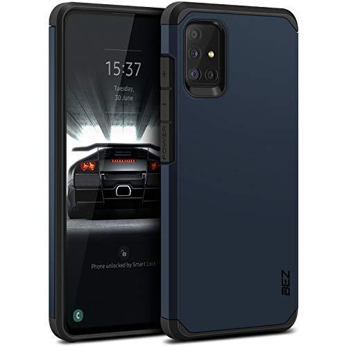 BEZ Hülle für Samsung Galaxy A51 Hülle, Handyhülle Tasche Stoßfestes Kompatibel für Samsung A51, [Heavy Duty Serie] Outdoor Dual Layer Armor Hülle Handy Schutzhülle Robuste, Dunkelblau