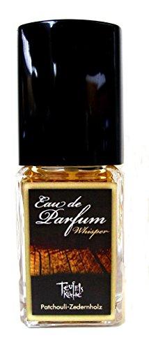 """Teufelsküche Patchouli \""""Whisper\"""", Patchouli Zedernholz, Eau de Parfum für Herren, Gothic Parfum, Vaporisateur/Spray, 25 ml Glasflakon, Gotik Patchouly"""