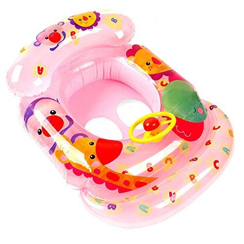 Schwimmreifen Schwimmring, Tierpark, mit Sitz, PVC-aufblasbarer Floating-Ring, Kind, geeignet für den Strand Pool Wasserpark Glatte Oberfläche (Color : Pink, Size : 70x55cm)