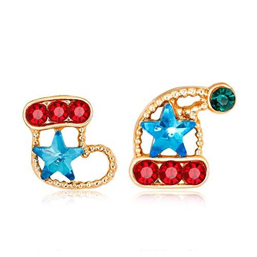 DaoRier Weihnachten Thema Design Ohrringe Weihnachtsstrumpf Modellierung für Frauen Schmuck Zubehör Damen Dekoration Anhänger