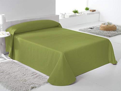 Fundeco - Colcha TREBOL Cama 90 Cm - Color Verde Pistacho