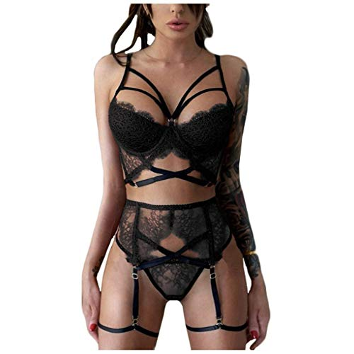 Sexy Lingerie Three-Piece Suit N...