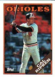1988 Topps Baseball Card # 650 Cal Ripken Jr. Baltimore Orioles