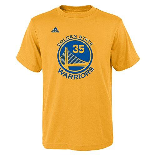 Kevin Durant Golden State Warriors # 35NBA niños nombre y número Jersey camiseta, Golden State Warriors, Kids Medium 5-6, Dorado