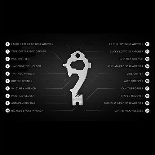 YangJinShan Schlüsselanhänger Flaschenöffner, 4 Stück 20 in 1 Multifunktions EDC Werkzeug Schraubenzieher Abdeckung Opener, Außenminiwerkzeug