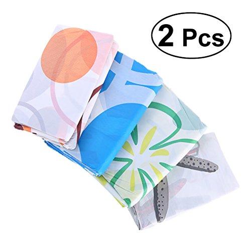 TOPBATHY 2 Stks Milieuvriendelijke PEVA Badkamer Douche Waterdichte Gordijnen Mildew Resistant Stof Douchegordijn 1.5x1.5m (Random Kleur)