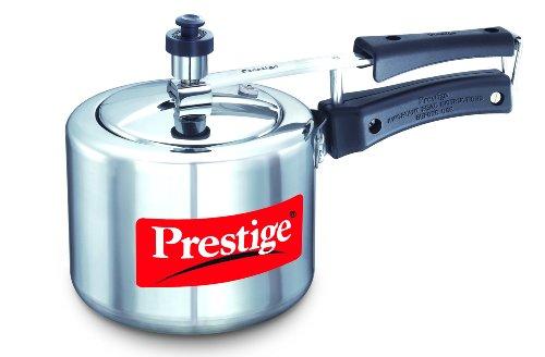 Prestige Nakshatra Plus Induction Base Aluminium Pressure Cooker, 2 Litres, Silver