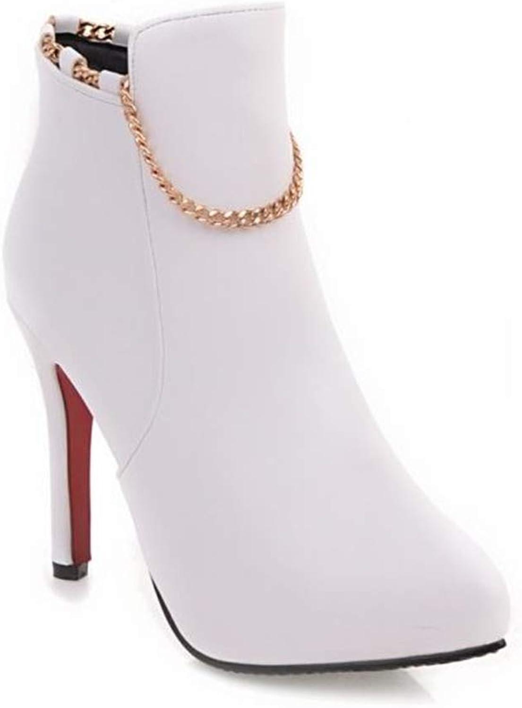 Kvinnlig dressing Point Toe Stiletto hög klack klack klack Ankle stövlar  på billigt