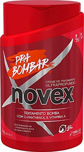 Novex - Pra Bombar Maschera -Trattamento Acceleratore per Crescita Veloce Capelli - Con Vitamina A e B5 e Proteine del Siero del Latte - Confezione 1 Kg