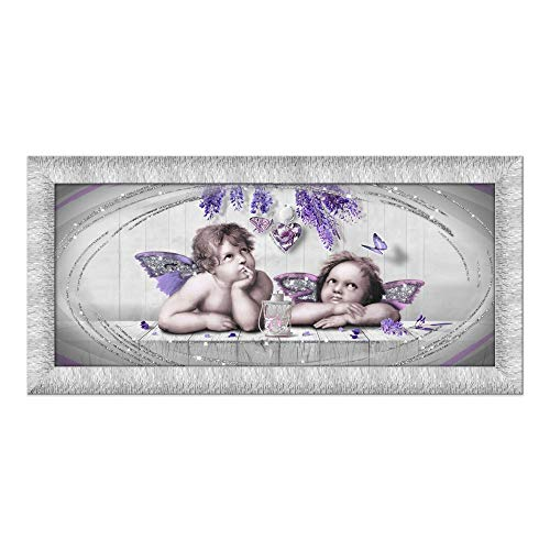 Lupia Quadro su Tela Prince 65X135 cm Cupids Violet Silver