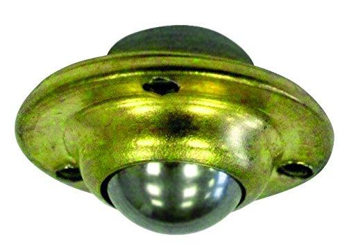 HSI 254740.0 Kugellagerrollen mit Anschraubring chromatiert 35mm