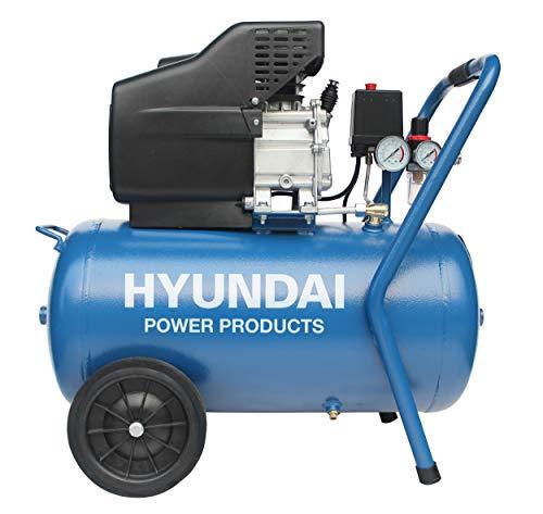 Hyundai compressor 50 liter met vochtafscheider - 8 BAR - 67dB - 180 liter/minuut - 2PK - 1500W