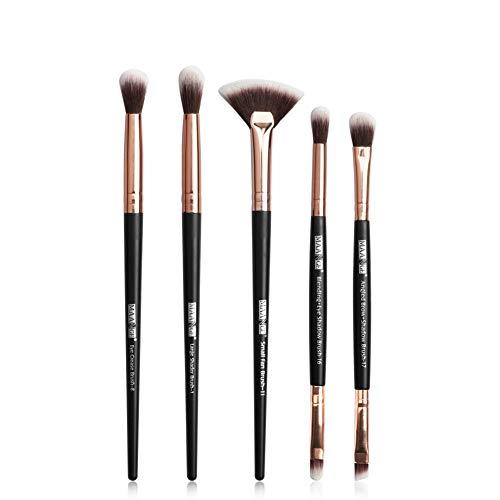 HOUXIAONI Ensemble De Pinceaux De Maquillage Professionnel 5pcs Start The Day Beautifully Kit Set De Pinceaux De Maquillage pour Le Fard à Paupières Foundation Blush,2-OneSize