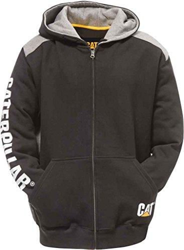 Caterpillar Herren-Sweatshirt mit Logo und Reißverschluss (Normale und große Größen) - Schwarz - Large