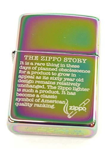 Zippo/ジッポー THE ZIPPO STORY ザ ジッポーストーリー 虹色 2002年10月製 MADE IN USA 着火あと無し オイルライター