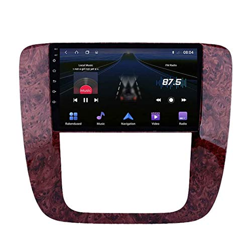 Android 10 Estéreo Automóvil Radio Navegacion GPS Unidad Principal Pantalla Táctil HD Navegación por Satélite Bluetooth SWC DSP para GMC 2007-2012 Reproductor Multimedia Receptor Video,8 core,4+64G
