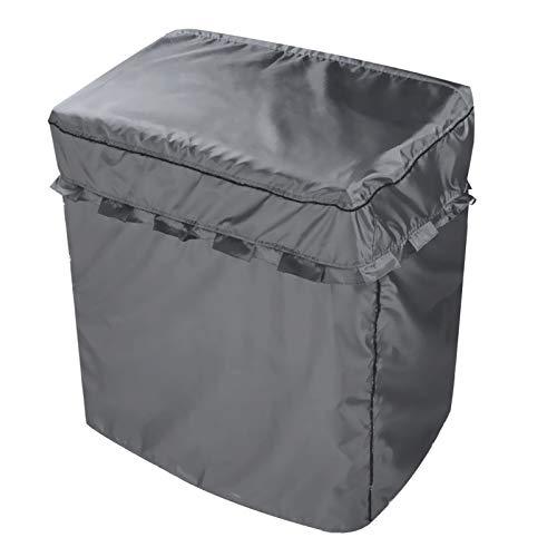 洗濯機カバー 二層式専用 独立の水入口のデザイン 防水 日焼け防止 グレー L(幅920×奥行500×高さ1000)