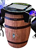 Creative Arcades Full-Size Commercial Grade Wine Barrel Style Pub Arcade Machine | Woodgrain Shell | 412 Classic Games | 2 Sanwa Joysticks | 2 Stools Included | 3-Year Warranty | Round Glass Top