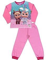 Cry Babies Pijama de niña original de dos piezas, camiseta y pantalón de algodón