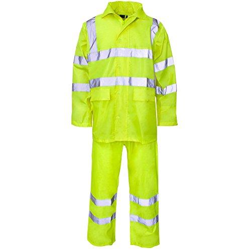 SuperTouch poliéster/PVC Hi Vis Rainsuit–Naranja, Amarillo o Azul