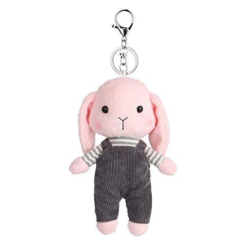 Zcm Plüsch Schlüsselanhänger 12cm Hase Plüsch Kaninchen-Baby-Spielzeug des netten weichen Tuch Kuscheltiere Kaninchen Schlüsselanhänger (Color : Pink)