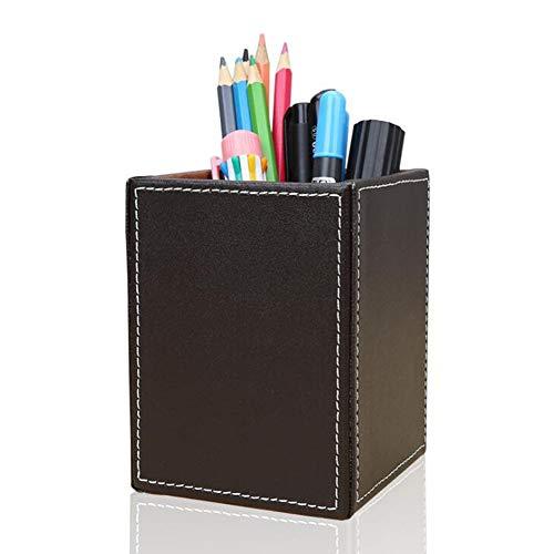 Storagboxy Multifunctionele leren opbergdoos, bureau-stationery, sieraden, stift/potlood, mobiele telefoon, zakelijke naam, kaarten, notenpapier, afstandsbediening, houder, bruin