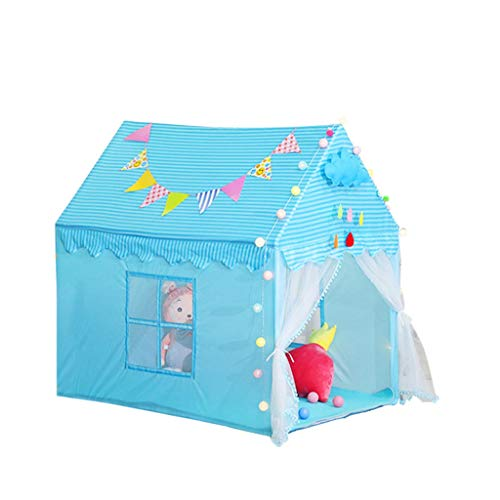 CSQ Boys & Girls Indoor Playhouse, Indoor Children's Bed Tent Blue Pink Portable Assembled House Tent - 100 * 142 * 142CM Children's play house (Color : Pink, Size : 100 * 142 * 142CM)