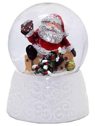 20086 Collection Minium Globe à neige Santa Base en porcelaine blanche 65 mm de diamètre