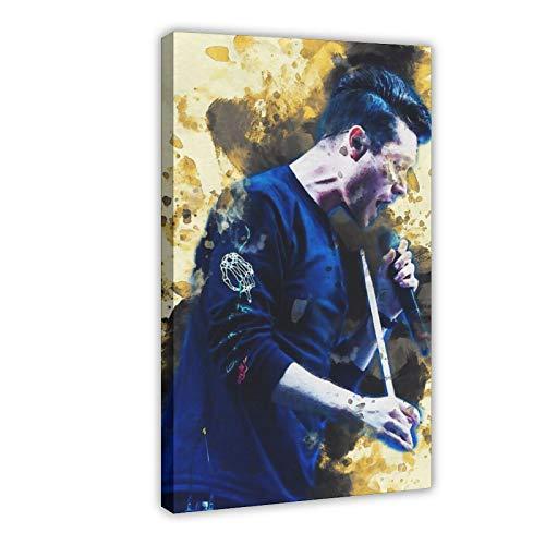 Orchestra Dan Smith Bastille Leinwand-Poster, Wandkunst, Dekor, Bild, Gemälde für Wohnzimmer, Schlafzimmer, Dekoration, 40 x 60 cm, Rahmen