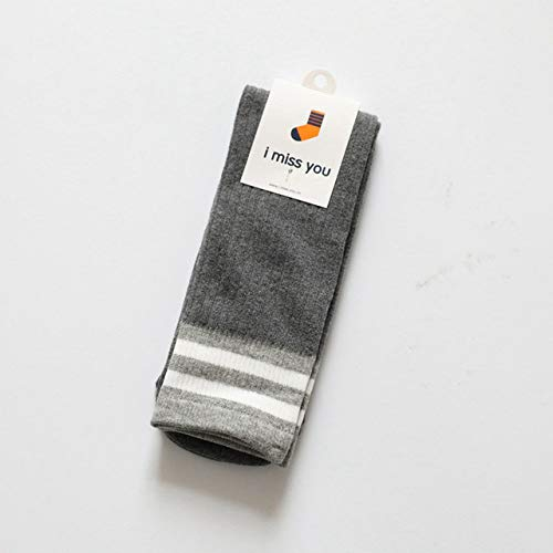 WZIH New Omnipotent Size Tube Loose Striped Top Socken Fromadult Alle Fit Good Stretching Amazing Socks,Gray,8 Years-43