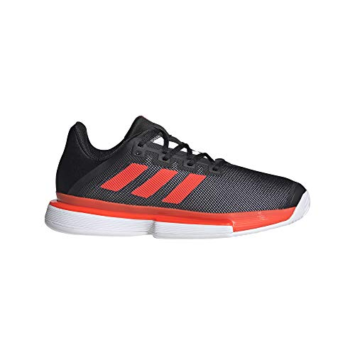adidas SoleMatch Bounce M, Zapatillas de Tenis Hombre, NEGBÁS/Rojsol/FTWBLA, 44 2/3 EU
