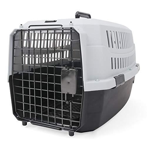 Jlxl Transportbox voor honden, groot formaat, reizen, auto, luchtvaart, lekvrij, transport 2-weg dragen, afneembaar, metalen deur veerslot