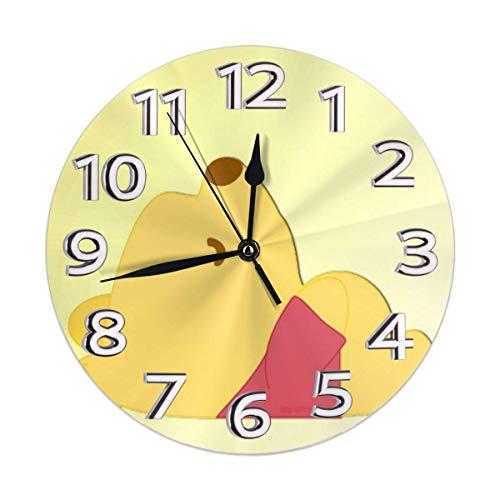 yongxing Reloj de pared decorativo silencioso sin dril a pilas redondas