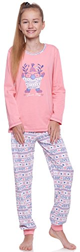 Merry Style Mädchen und Jugendlicher Schlafanzug MSTR1154 (Aprikose-2A, 158)