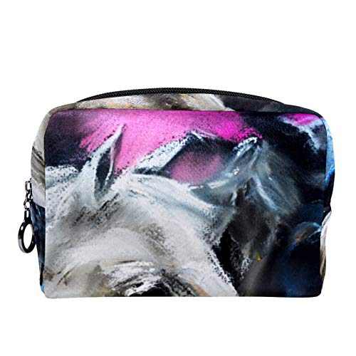 Cosmetic Bag for Women,Roomy Makeup Bags,Couple Horses Love,Travel Waterproof Toiletry Bag Accessories Organizer