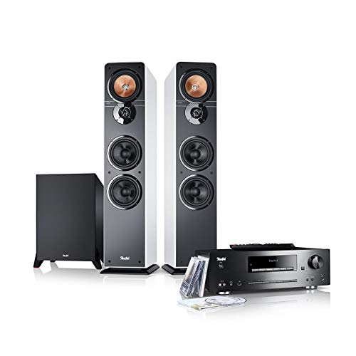 Teufel Ultima 40 Kombo Power Edition Weiß Stereo Lautsprecher Musik So& Hochtöner Mitteltöner Bass Speaker High End HiFi Tieftöner Schalldruck