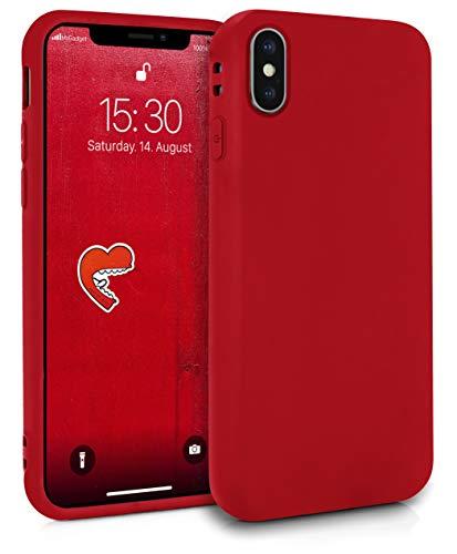 MyGadget Friendly Pocket Custodia TPU per Apple iPhone X/XS - Case Ultra Morbida con Bordi Rinforzati – Cover Silicone Antiurto e AntiGraffio - Rosso