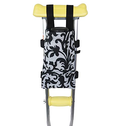 HNYG Crutch Bag, Lightweight & Washable Tote, Walking Stick Pouch with Extra Pockets,Medical Forearm Crutch Accessories,Waterproof and Durable
