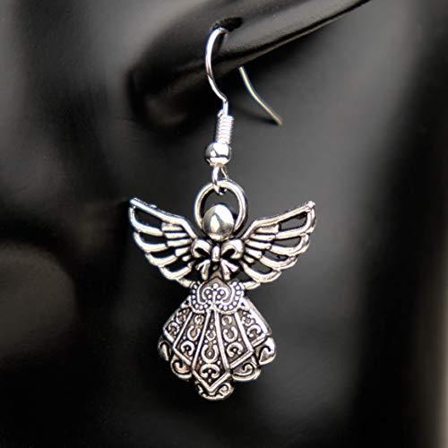 Lucil Guardian Angel Ohrringe Ohrhänger Hängeohrringe Engel Schutzengel Farbe silber