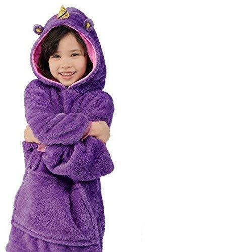 NXYJD Kids Pets Hoodie Blanket Oversized Children's Sweatshirt Wearable Blankets Soft Hooded Coats Fleece Winter Pet Toy with Hoodies (Color : D)