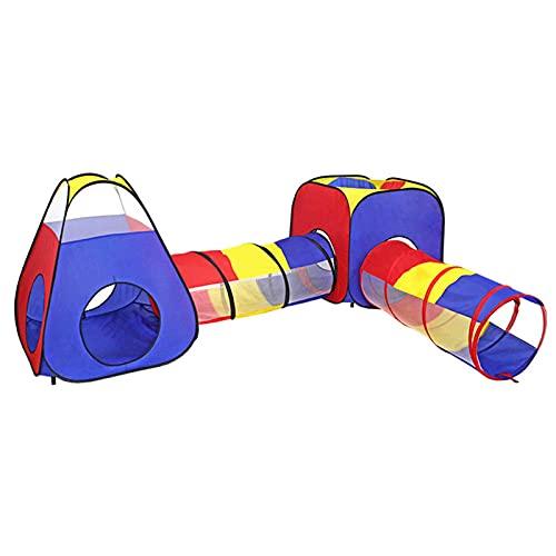 Hotsel Tienda De Campaña para Niños 3 En 1 con Juego De Gimnasio Jungle Pop Up Games Playhouse Tent, Kids Ball Pit Play Tent Regalos para Niños Bebés, Niñas, Niños, Niños Pequeños