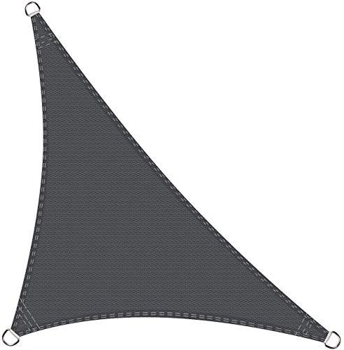 Cool Area Tenda a Vela Triangolo Rettangolo 3 x 3 x 4.2 Metri Protezione Raggi UV, Vela Ombraggiante Resistente e Traspirante per Giardino Balcone Terrazza, Grafite