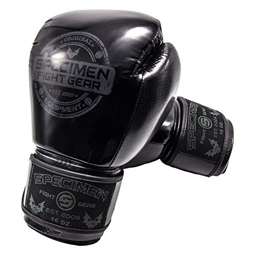 Specimen Stealth Boxing Gloves for Men and Women – Boxing, Heavy Bag, Kickboxing, Sparring and Muay Thai Gloves with Enhanced Wrist pad for Support – Used by UFC Sponsored Pros (10 Oz)